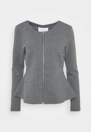 VINAJA PEPLUM - Cardigan - medium grey melange