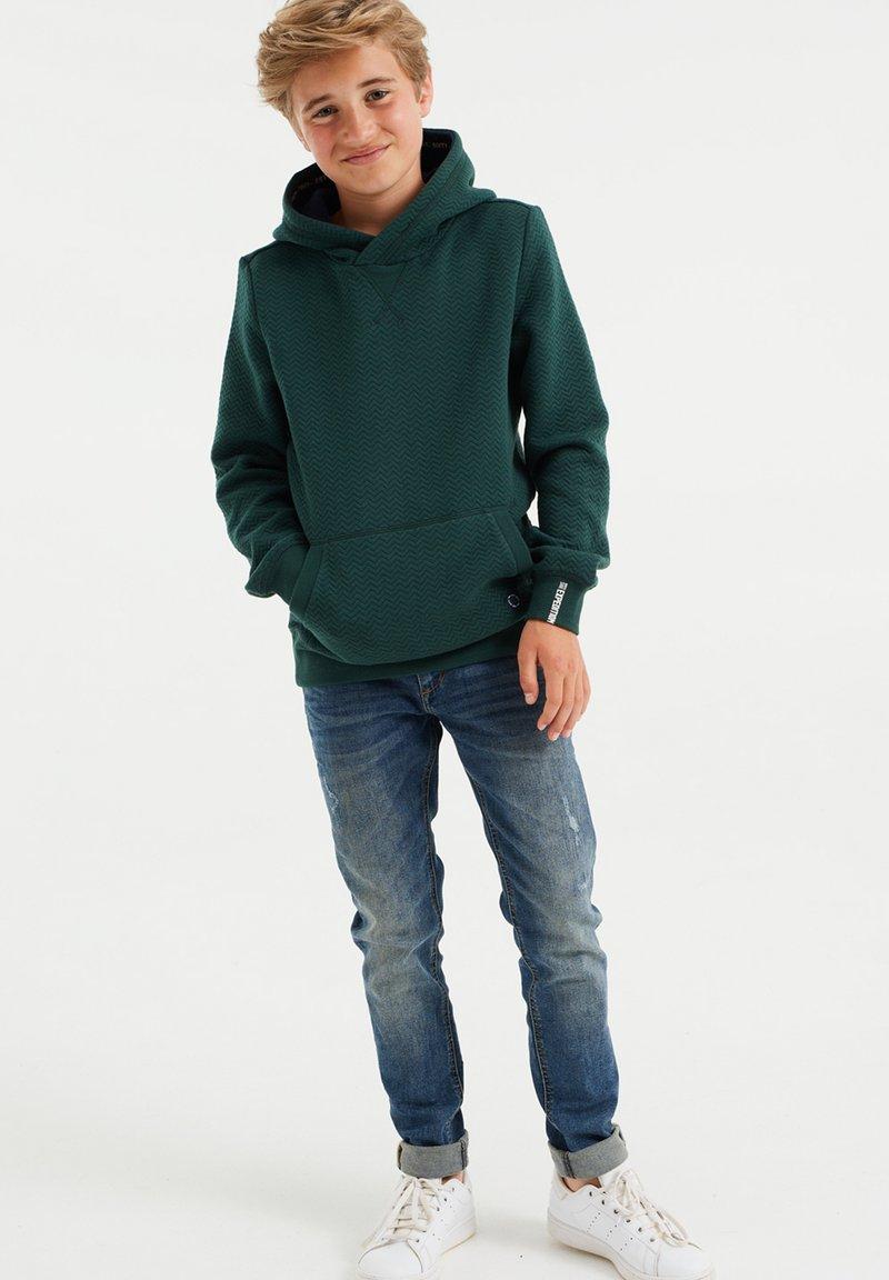 WE Fashion - MET STRUCTUUR - Jumper - green