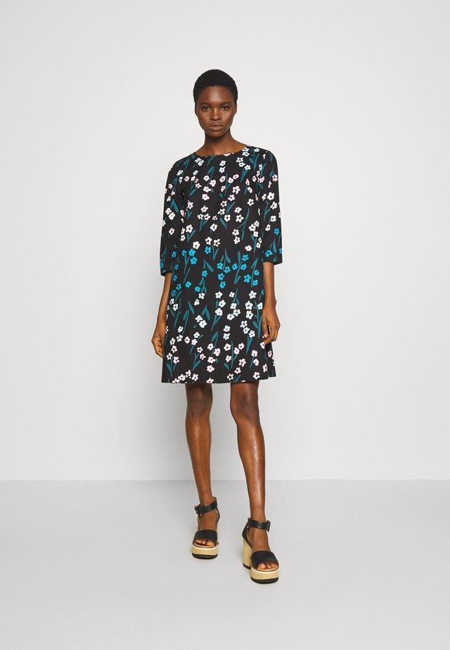 OLEVA RAITALEMMIKKI DRESS - Vestido informal - black