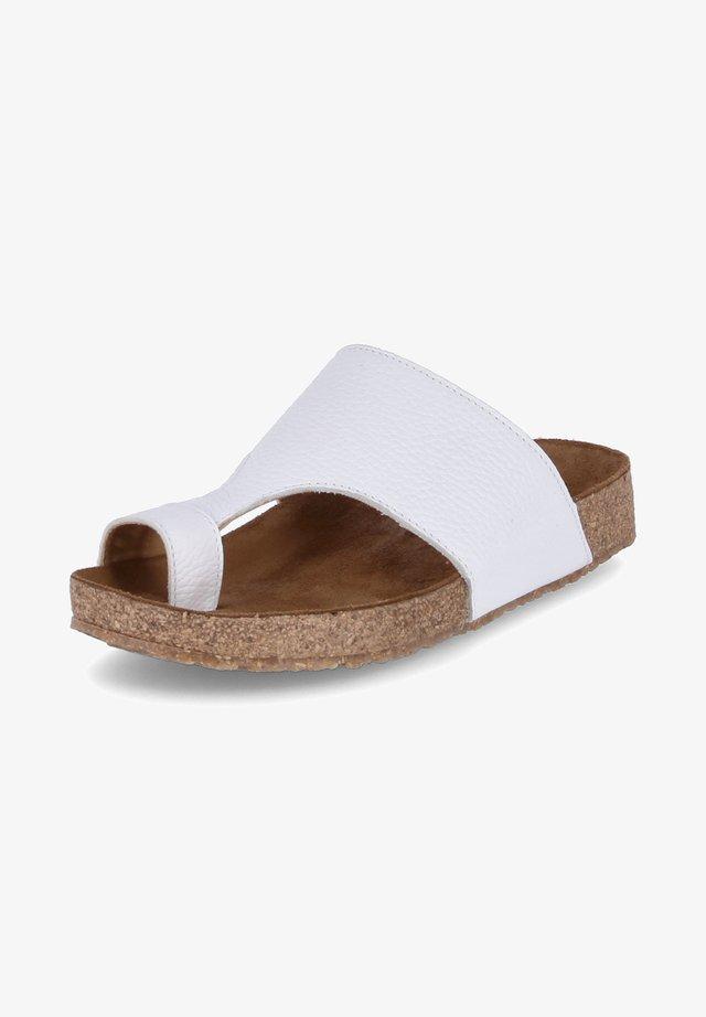 T-bar sandals - weiß
