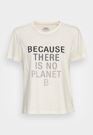 BECAUSALF WOMAN  - Print T-shirt - light beige