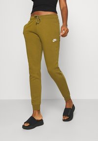 Nike Sportswear - Tracksuit bottoms - olive flak/white - 0