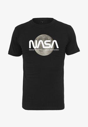 NASA MOON TEE - Print T-shirt - black