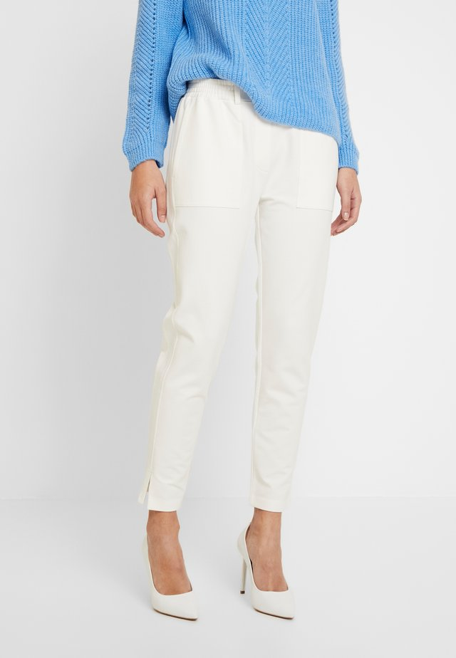 PANTS SIDE INSERT - Pantalon classique - natural white