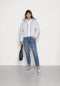 Calvin Klein Jeans - BIG LOGO PUFFER - Winter jacket - stone grey - 1
