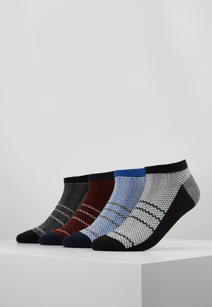 4 PACK - Trainer socks - black/green/blue