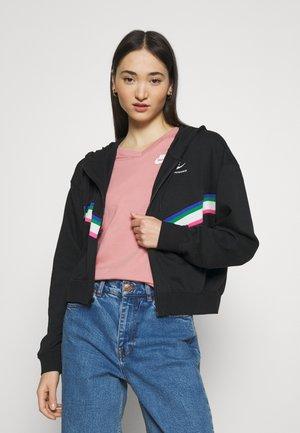 Zip-up sweatshirt - black/sail/white
