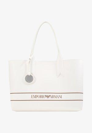 FRIDA STRIPE LOGO SHOPPER - Shopping bags - bianco