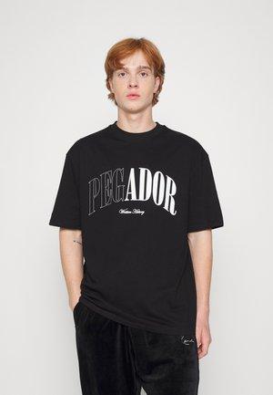 CALI OVERSIZED TEE UNISEX - Print T-shirt - black shadow/grey white
