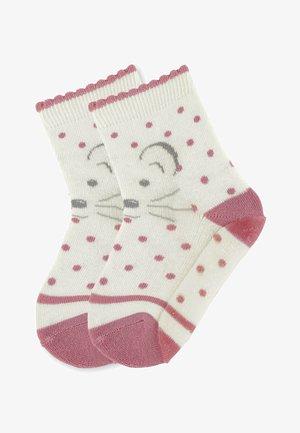 FLIESEN FLITZER ANTIRUTSCH SOCKEN MIT VOLLSOHLE MABEL - Socks - ecru