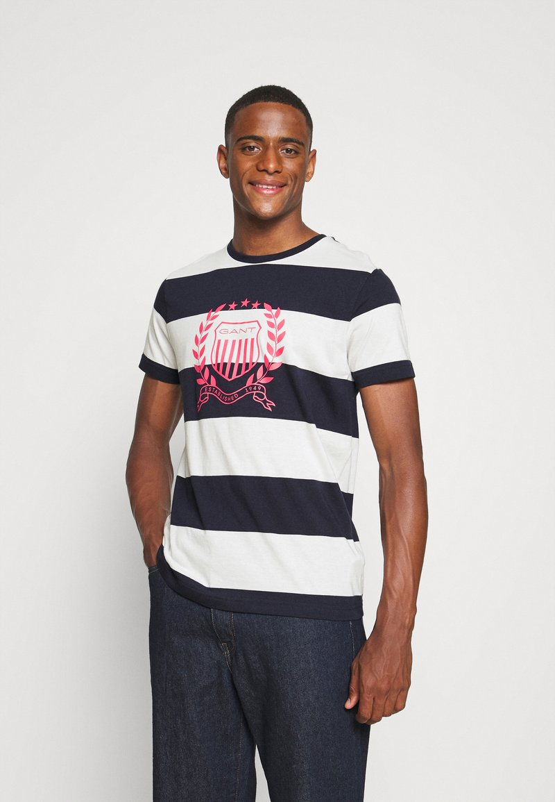 GANT - CREST - T-shirt med print - evening blue