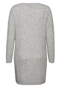 Vero Moda Curve - Abito in maglia - light grey melange - 5