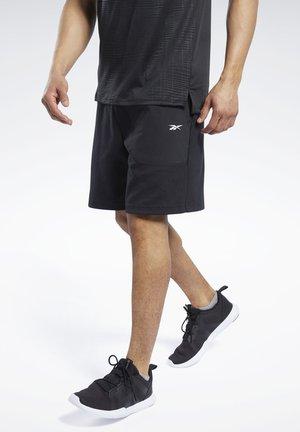 KNIT-WOVEN SHORTS - Sports shorts - black