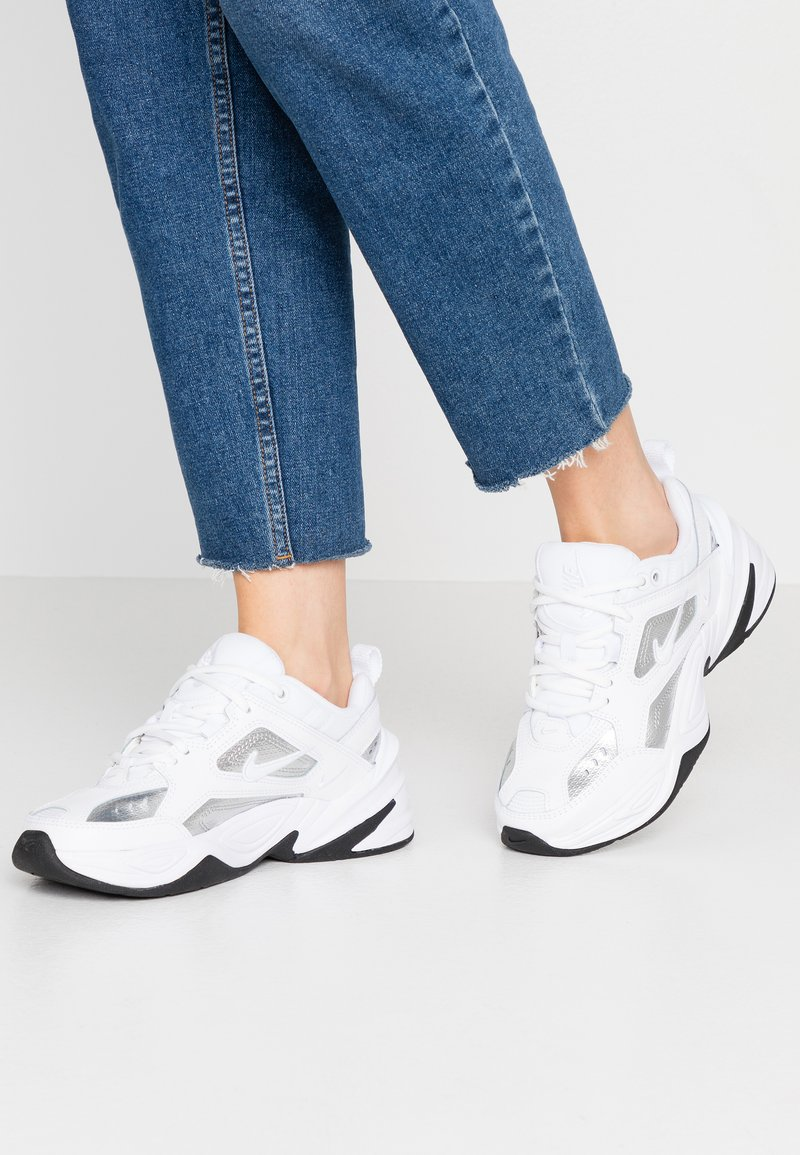 Nike Sportswear - TEKNO  - Sneakersy niskie - white/metallic silver/black