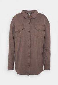 Missguided - POCKET DETAIL - Skjorte - brown - 4