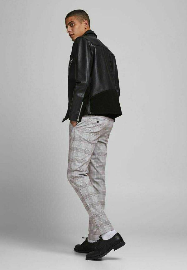 Jack & Jones MARCO PHIL - Chinosy - light grey melange/jasnoszary Odzież Męska IFVW