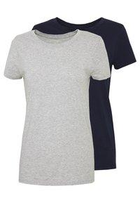 GAP - CREW 2 PACK - T-shirt basic - navy uniform/grey - 0