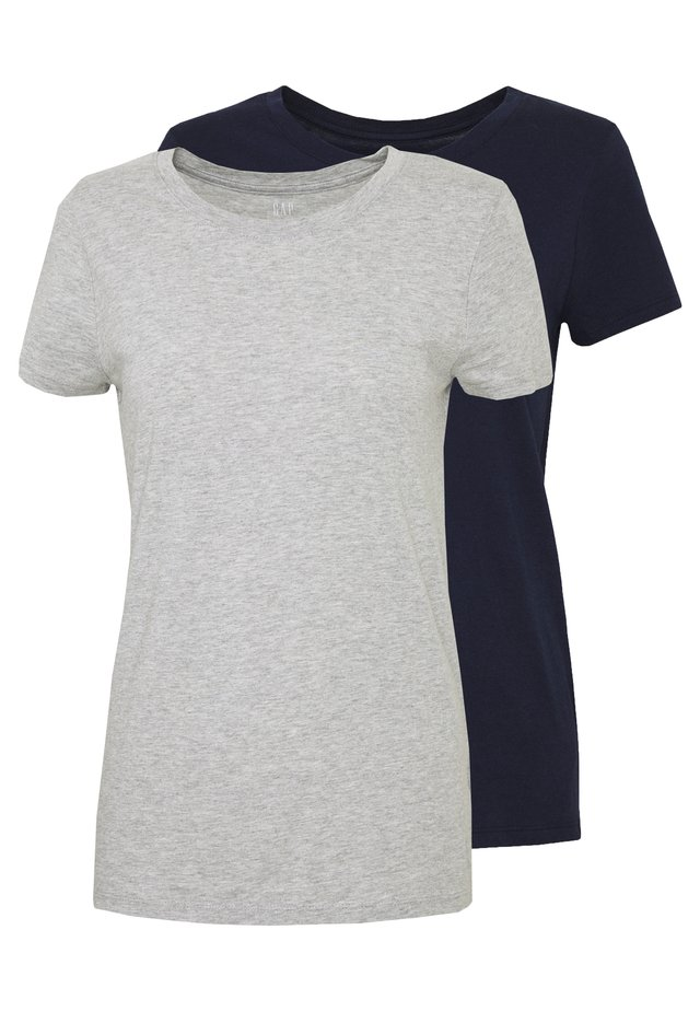CREW 2 PACK - T-shirt basique - navy uniform/grey