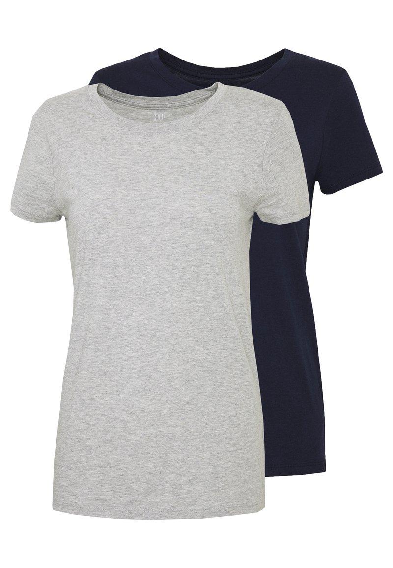 GAP - CREW 2 PACK - T-shirt basic - navy uniform/grey