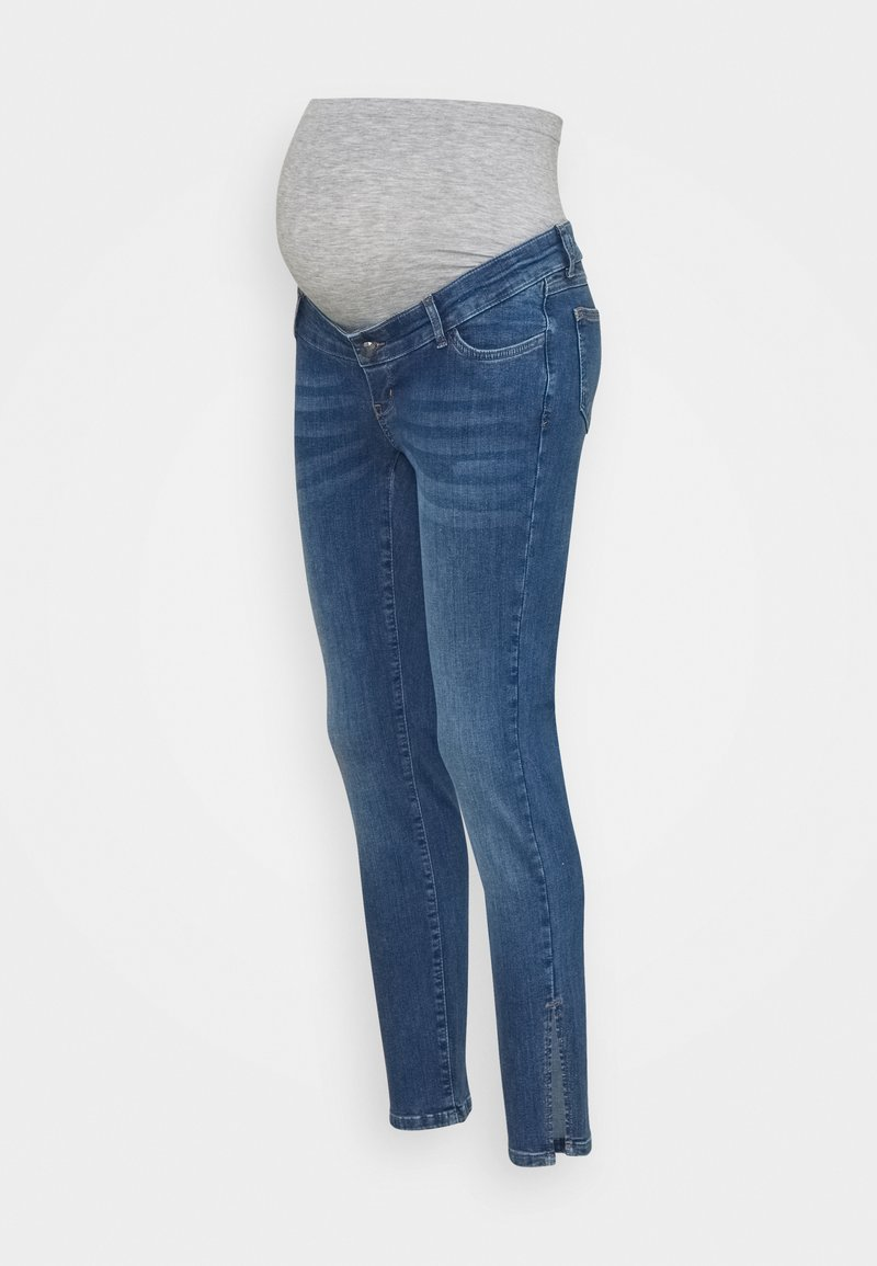 MAMALICIOUS - MLPARK BUMPBAND SLIT - Jeans Skinny Fit - dark blue denim