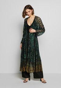 MANÉ - CETO DRAWSTRING - Summer jacket - washed black/emerald - 0