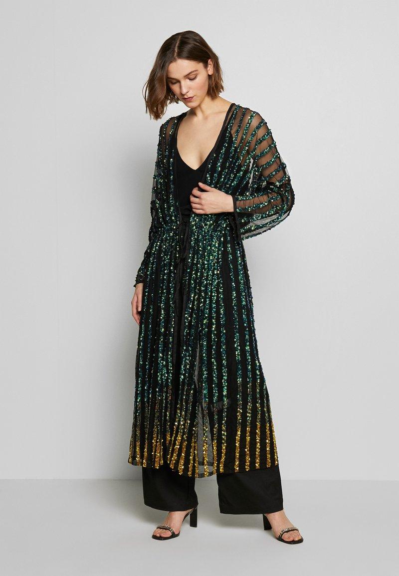 MANÉ - CETO DRAWSTRING - Summer jacket - washed black/emerald