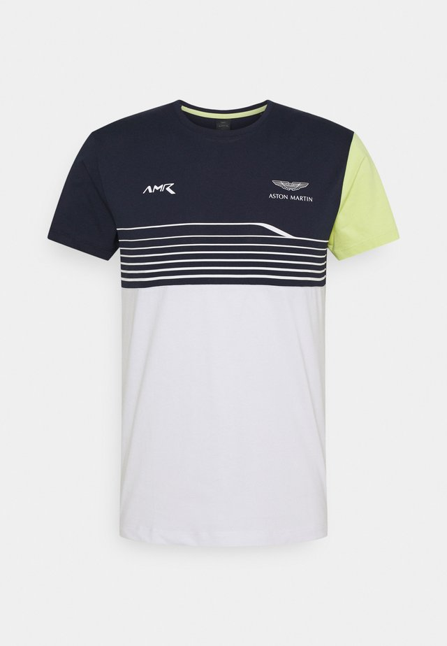 STRIPE TEE - T-shirt imprimé - navy/white