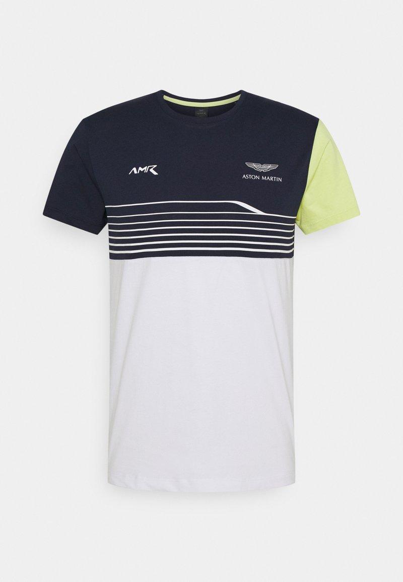 Hackett Aston Martin Racing - STRIPE TEE - T-shirt imprimé - navy/white