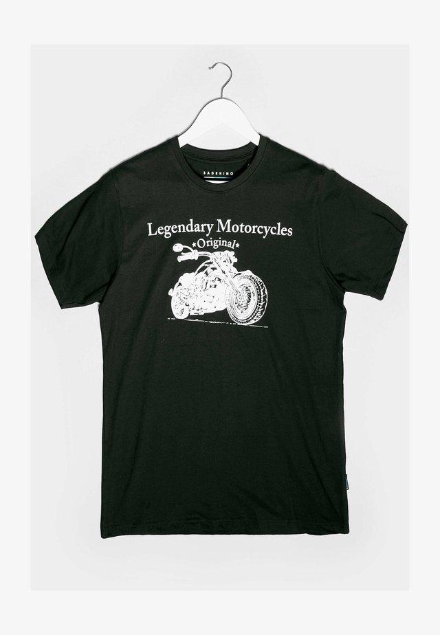 LEGENDARY MOTORCYCLES GRAPHIC - Print T-shirt - black