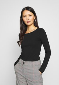 Anna Field - 2 PACK - Long sleeved top - black - 2