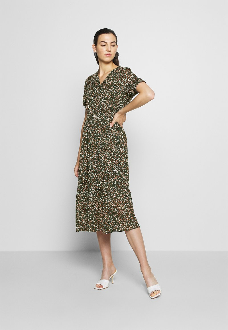 Moss Copenhagen - EDA RIKKELIE DRESS - Day dress - brown / multicolor