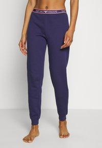 Emporio Armani - PANTS WITH CUFFSVISIBILITY ICONIC - Pyjama bottoms - indigo blue - 0