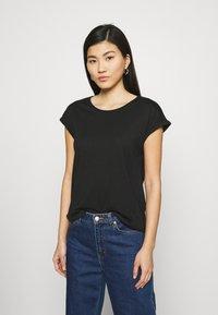 Anna Field - 3 PACK - T-shirts - black/white/khaki - 3