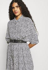 Zign - Shirt dress - white/black - 3