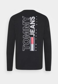 Tommy Jeans - VERTICAL TEE - Maglietta a manica lunga - black - 1