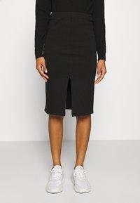 Noisy May - NMSKYLER BELOW KNEE SKIRT - Pencil skirt - black - 0