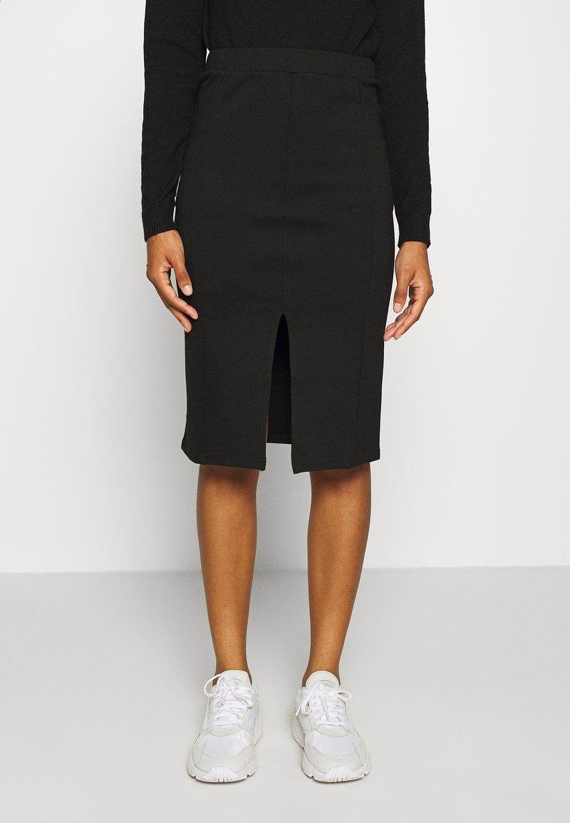 Noisy May - NMSKYLER BELOW KNEE SKIRT - Pencil skirt - black