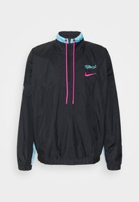 Nike Performance - NBA MIAMI HEAT CITY EDITION TRACKSUIT - Club wear - black/blue gale/laser fuchsia - 1