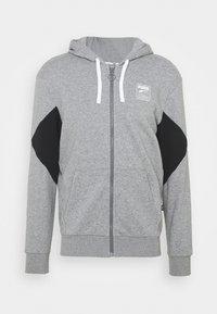 Puma - REBEL HOODIE  - Zip-up sweatshirt - medium gray heather - 4
