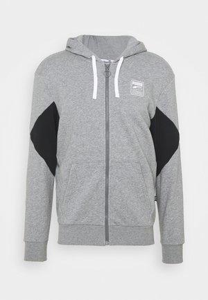 REBEL HOODIE  - veste en sweat zippée - medium gray heather