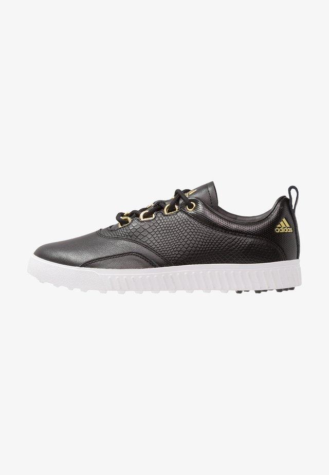 ADICROSS PPF - Golf shoes - core black/gold metallic/footwear white