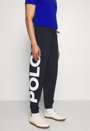 DOUBLE KNIT - Tracksuit bottoms - aviator navy mult
