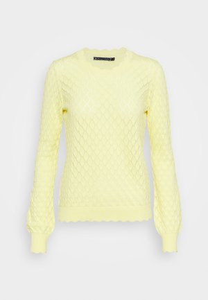 RONY POINTELLE - Strikkegenser - light lemon