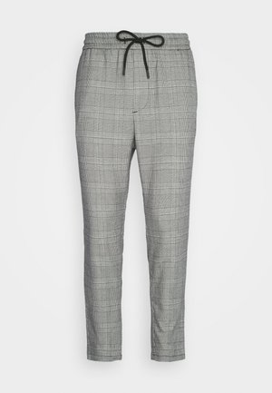 ONSLINUS CROPPED CHECK PANT  - Trousers - medium grey melange
