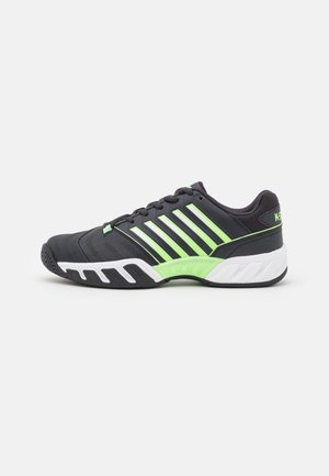 BIGSHOT LIGHT 4 - Multicourt tennis shoes - blue graphite/soft neon green/white