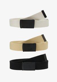 Urban Classics - BELT 3 PACK - Belt - black/sand/beige - 4