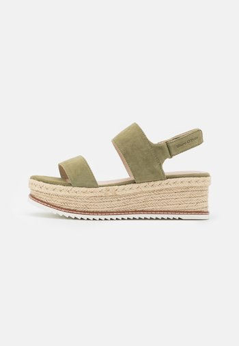 TROPEZ  - Platform sandals - khaki