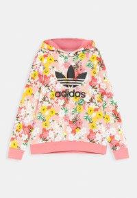 adidas Originals - FLORAL TREFOIL HOODIE - Sweatshirt - trace pink/multicolor/black - 0