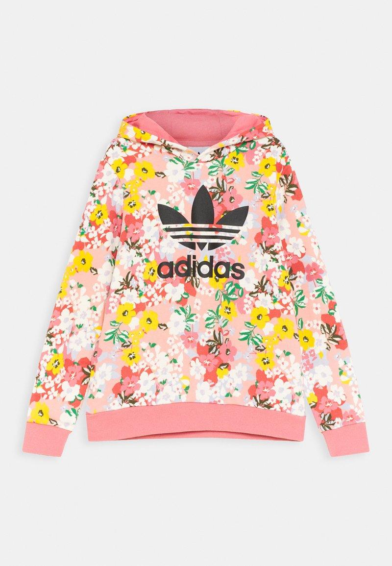adidas Originals - FLORAL TREFOIL HOODIE - Sweatshirt - trace pink/multicolor/black