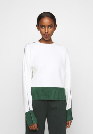 CONTRAST PANEL SLEEVE JUMPER - Sweter - ivory